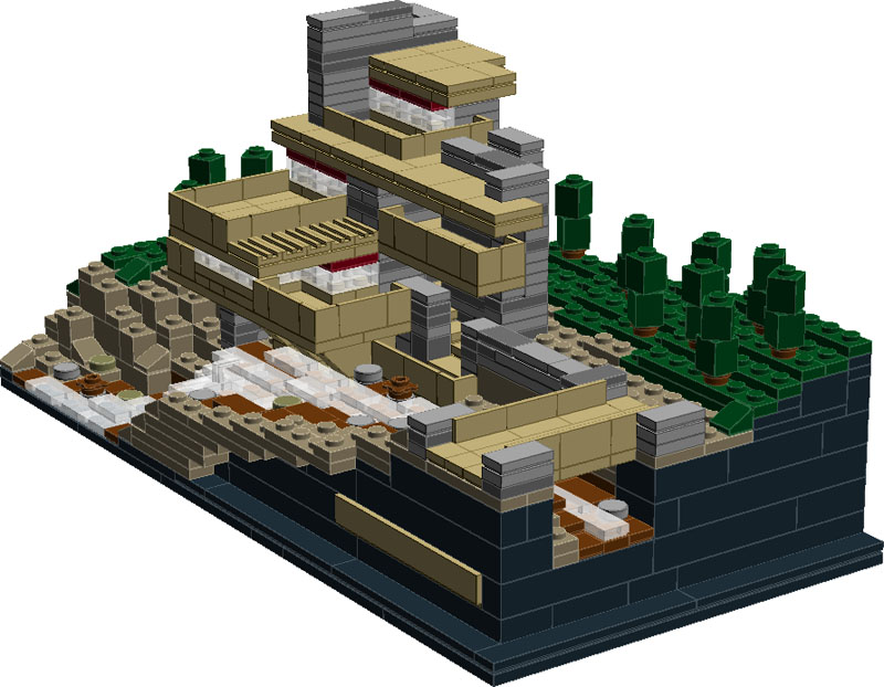 21005 fallingwater mod special lego themes eurobricks forums - Lego falling waters ...