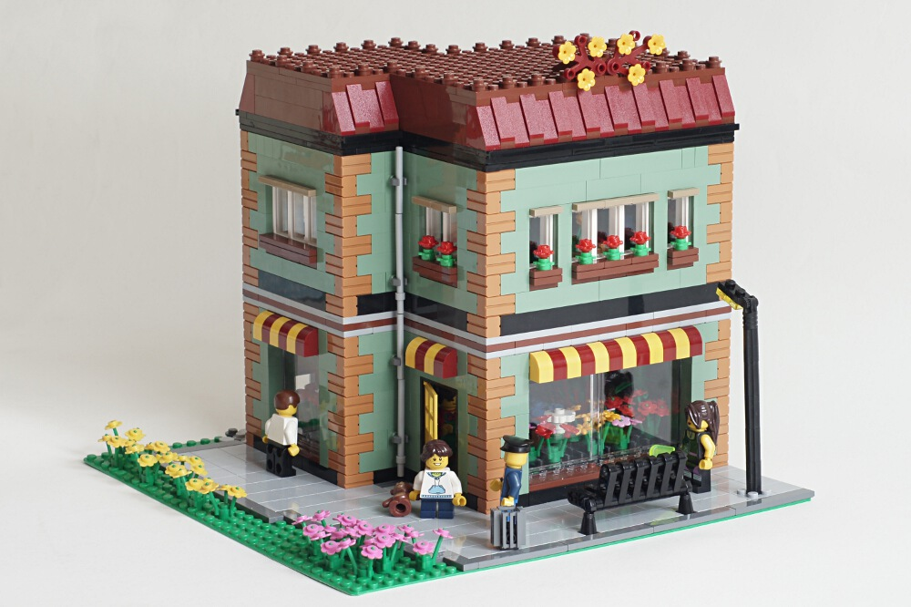 Moc Modular Flower Shop With Instructions Picture Heavy Lego