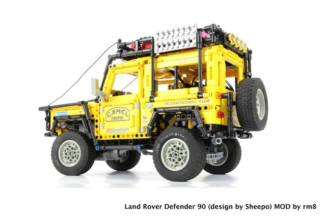 Moc Review Land Rover Defender Map Chassis By Sheepo Lego Technic And Model Team