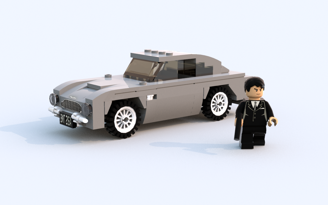 moc aston martin db5 with instructions lego town. Black Bedroom Furniture Sets. Home Design Ideas